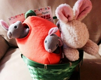 BUNNY FUN Dog Gift Basket