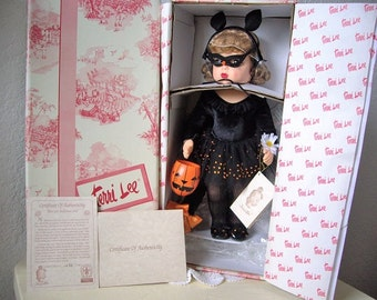 Terri Lee Halloween Doll in box. Complete with accessories, tag and certificate of authenticity
