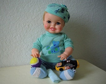 Tubsy Wubsy Doll with adorable smile. Made by Ideal Doll Co, 1967.