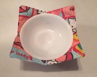 Hello Kitty microwave bowl cozy