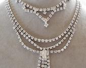 Nice Vintage Lot of 3 Rhinestone Choker Necklaces