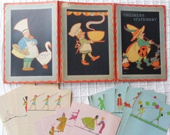1920's Art Deco Children's Stationary Set