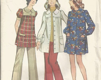 1970's Simplicity Pattern 5368  Maternity Smock Dress and Pants  Size 14 Bust 36
