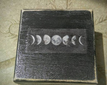 Moonphases shabby Chic Angel Box