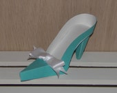 Blue and White High Heel Shoe Favor Box, Gift Box