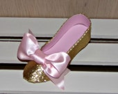 Pink and Gold Collection Low Heel Paper Shoe Favor Box
