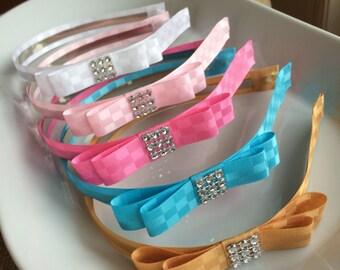 Pink headband,headband,girl headband,girl hair accessory,girl headband,headband for girl,bow headband,infant headband,headband with bow,12