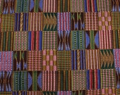 Unique kente print patchwork fabric by the yard/ Printed African Patchwork fabric/ Kente Stoles/ African Textiles/ Unique African fabrics