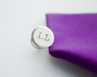 Tie tack, personalised tie tack, mens gift, tie badge, tie brooch, initial tie accessory, graduation, wedding gift