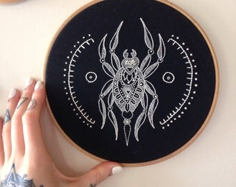 Rachel Welsby - Spider Embroidery