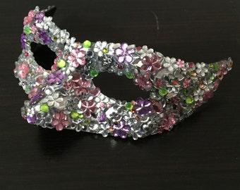 Titania Midsummer Nights Dream Diamonte Jewelled Icognito Venetian Mask