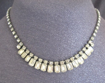 rhinestone necklace, Weiss jewelry, designer signed necklace, weiss necklace, vintage rhinestone necklace, wedding necklace, vintage wedding