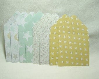 Baby Shower Mini Envelopes, Baby Mini Envelopes, Mini Envelopes