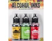 Conservatory Alcohol Ink Kit - Honeycomb, Botanical, Poppyfield Tim Holtz Alcohol Inks Set