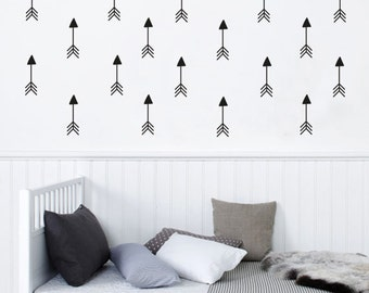 Black and White Nursery Decor, Patterned Arrows wall Decal, Removable Wall Sticker, Vinyl Deacl for Kids
