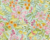 Garden Girl - Always In Bloom in Blue by Cori Dantini for Blend Fabrics