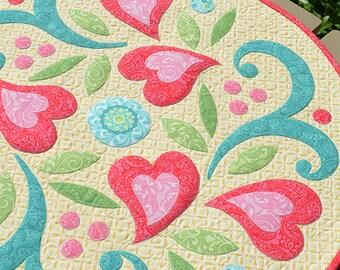 Romance Table Topper Pattern by Amanda Murphy