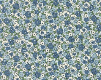 Bread 'n Butter - Pansies in Light Blue by American Jane for Moda Fabric