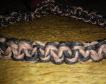 Hemp bracelet/ men's hemp bracelet