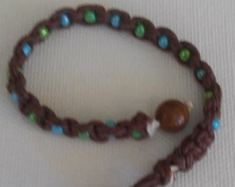 hemp beaded bracelet/beaded bracelet/hemp bracelet
