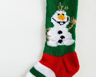 Knit Snowman Christmas Stocking - Personalized