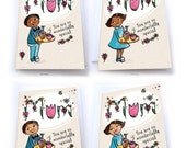 Mothers Day Card, Card for Mum, Multicultural Greeting Cards, Cute Card, For Mum, Mixed Race Card, mom, mothering Sunday, african american