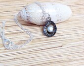 Small Chocolate Limpet and Freshwater Pearl Necklace