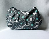 Small Purse: Gray and Turquoise Buttercup Bag