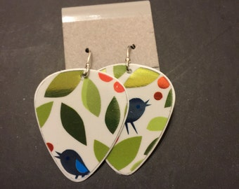 Upcycled Guitar Pick Earrings