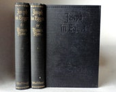 Vintage Books 1938 JOSEPH In EGYPT by Thomas Mann 2 Book Boxed Set Slipcover 6th Printing Volume 1 & 2 Black Hardcover Religious