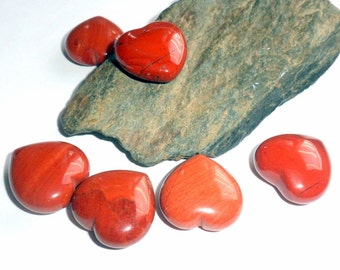 Red Jasper Heart Etsy