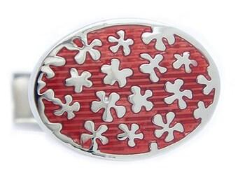 Red flower Cufflinks
