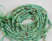 3.5-4mm Green moss opal faceted rondelle beads , full strand (15.5 inches), Moss green opal rondelle