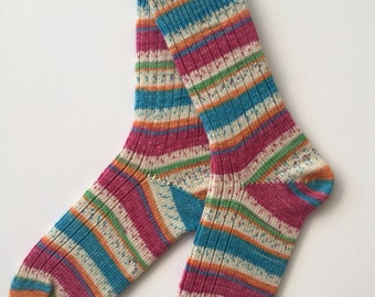 Knitted Women's Sock, Opal Smile