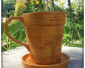 Pumpkin Spice flower pot mug