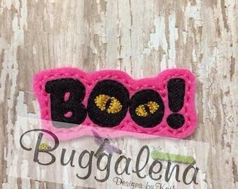 ON SALE Boo Halloween Feltie Embroidery Design