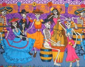 Skull Day of the Dead Sugar Skulls Banner Sugar Skull Dancing Couple