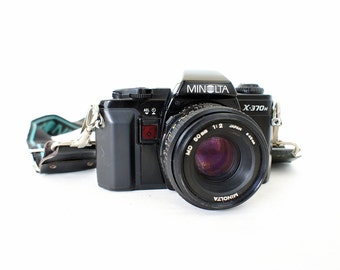 Vintage Minolta X-370n SLR Film Camera -  Working Film Tested