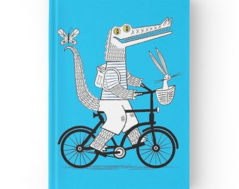 The Crococycle - Hardcover Office Journal book - Ruled Line - iOTA iLLUSTRATION