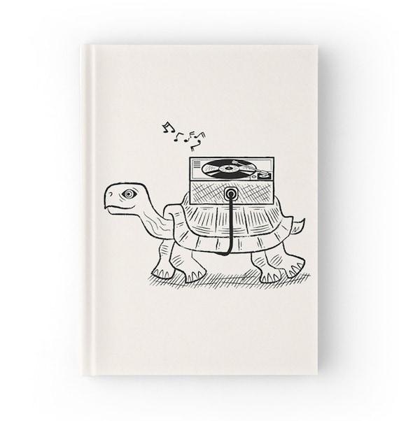 Tortoise Wax - Hardcover Office Journal book - Ruled Line - iOTA iLLUSTRATION