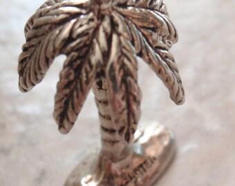 Palm Tree Charm Sterling Silver Tropical Vintage 010116BKH