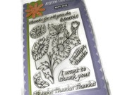 New SALE Poly Clear Slamps A Million Thanks Stamps Hero Arts Rubber Cling Stamp Remountable CL304