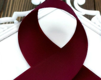 Wine 2-1/4 inch Ribbon - Choose from 1-50 yd -Maroon, Burgundy Grosgrain Ribbon for Cheer Bows or Wide Bows - Hairbow Supplies, Etc.
