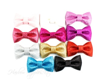 Glitter Bows - 3 inch - Glitter Hair Bow, Glitter Bows, Glitter Bow Headband, Glitter Bow Tie, Glitter Hair Clip, Baby Bows, Bow Tie, Bowtie