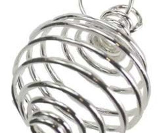 """1"""" x 7/8"""" Silver Plated coil"""