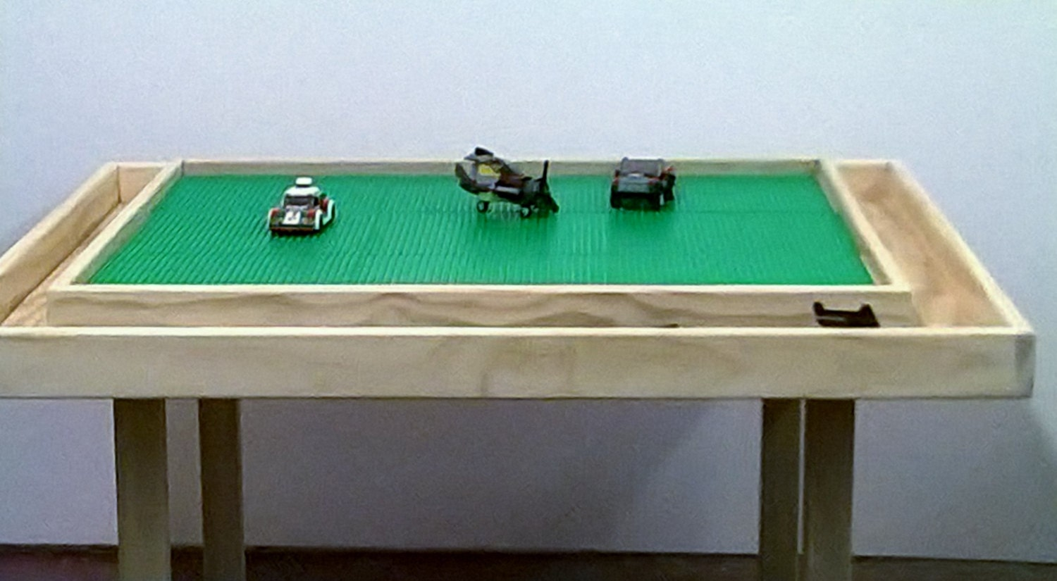 Lego table with storage trough solid wood custom sizes are for Table design lego