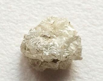 55% ON SALE Grey White Raw Diamond, Grey White Rough Diamond, Uncut Diamond, Loose Diamond, Grey White Conflict Free, 8.6mmx9.1mm, 1 Pcs, 2.