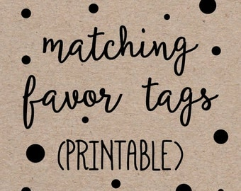 "Printable Favor Thank You Tags to Match any Invitation Design from OhCreativeOne, 2"" Circles or Squares, DIY digital file"
