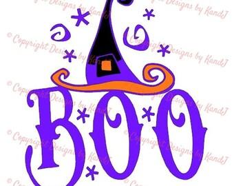 Halloween SVG Witch hat SVG File  digital cut file Boo svg - Instant Download