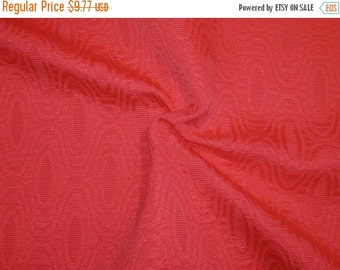 ON SALE SPECIAL--Coral Geometric Design Cotton Blend Jacquard Fabric-One Yard
